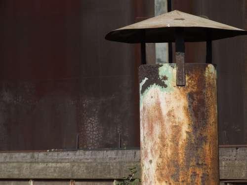 Chimney Oven Rust Metal Old