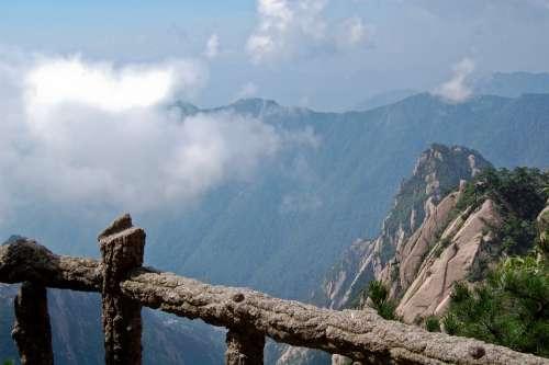 China Mountain Clouds Huangshan