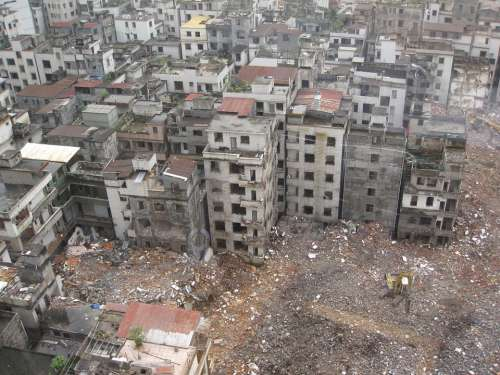 China Rubble Palaces Demolition Desolation