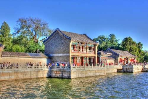 China Beijing Summer Garden Palace Pavilion Lake