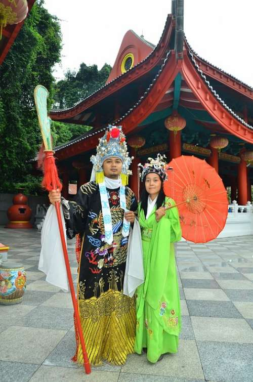 Chinese Temple Costumes Tradition Traditional