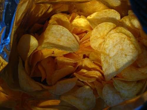 Chips Food Cuddly Bag Snack