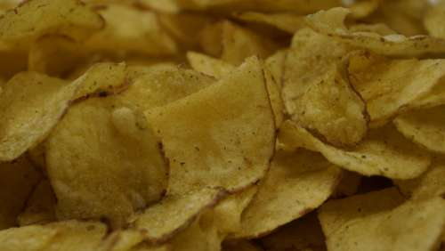 Chips Crisps Potato Food Snack Slice Fat Fried