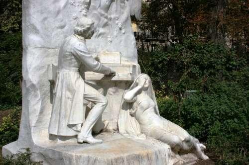 Chopin Piano Monument Parc Monceau Paris