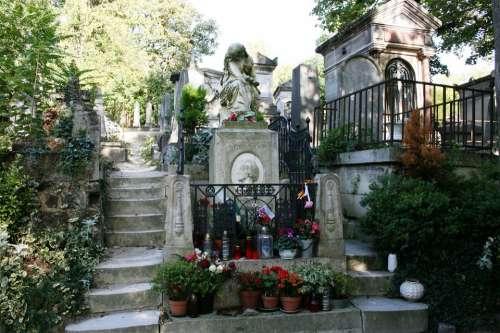 Chopin Tomb Cemetery Pere Lachaise Paris