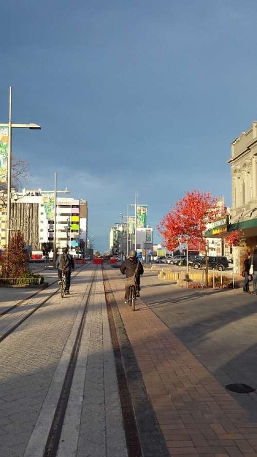 Christchurch New Zealand City Autumn