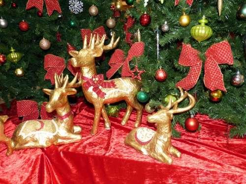 Christmas Atmosphere Golden Christmas Ornament Gold