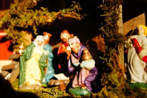 Christmas Crib Advent Angel Christ Child Santon
