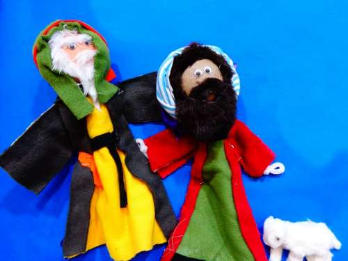 Christmas Nativity Shepherds Puppets Church Art