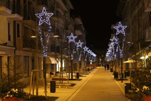Christmas Advent Pedestrian Zone City Star