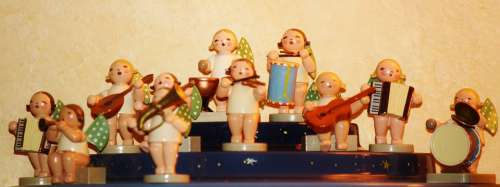 Christmas Angel Figures Angel Music Orchestra