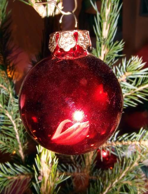 Christmas Bauble Red Tree Decorations