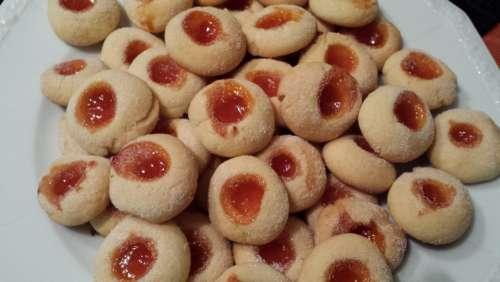 Christmas Cookies Husarenkrapferl Pastry Bake Cookie