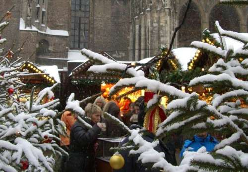 Christmas Market Cathedral Square Ulm