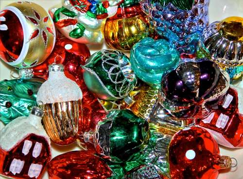 Christmas Ornamnets Xmas Decorations Glass Bulbs