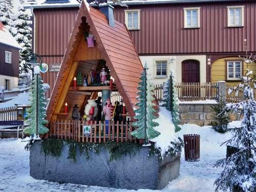 Christmas Pyramid Christmas Winter Historically
