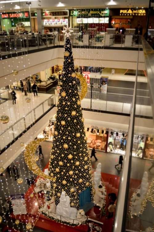 Christmas Tree Holidays Shopping Mall Shopping Buy