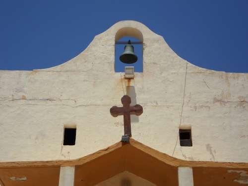 Church Bell Cross Christianity Wild West