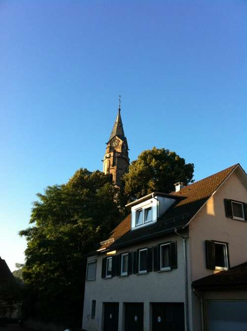 Church Steeple Schwäbisch Hall Catherine Sky Blue