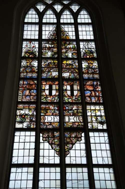 Church Faith Church Window Glass Stained Text