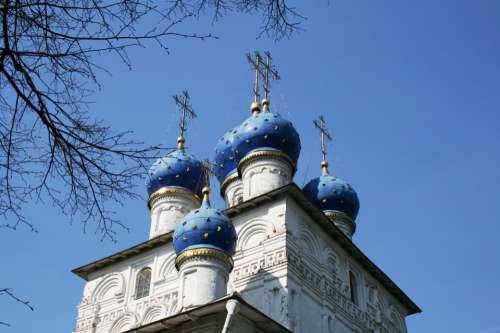 Church Russian Orthodox White Building Architecture