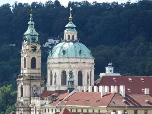Church Dome Prague Historic Center Tower Baroque