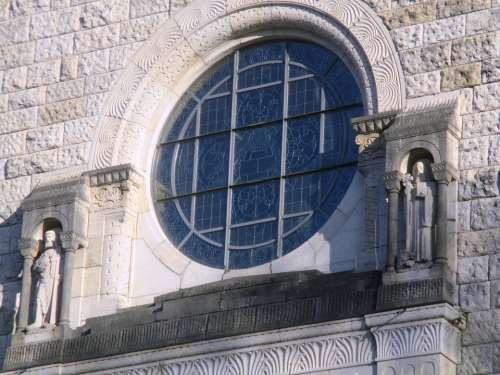 Church Statues Building Architecture Glass Window