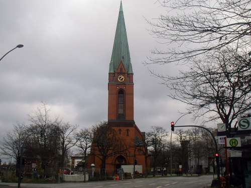 Church Small Town Building Germany Steeple