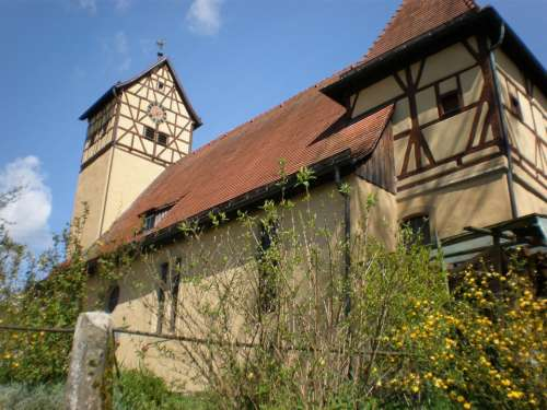Church Well Rain Unterbach Langenburg Hohenlohe