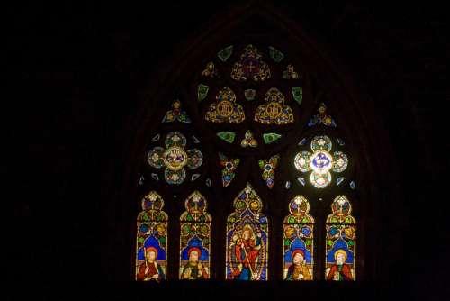 Church Window Vitrail Glass Gothic Windows Arches