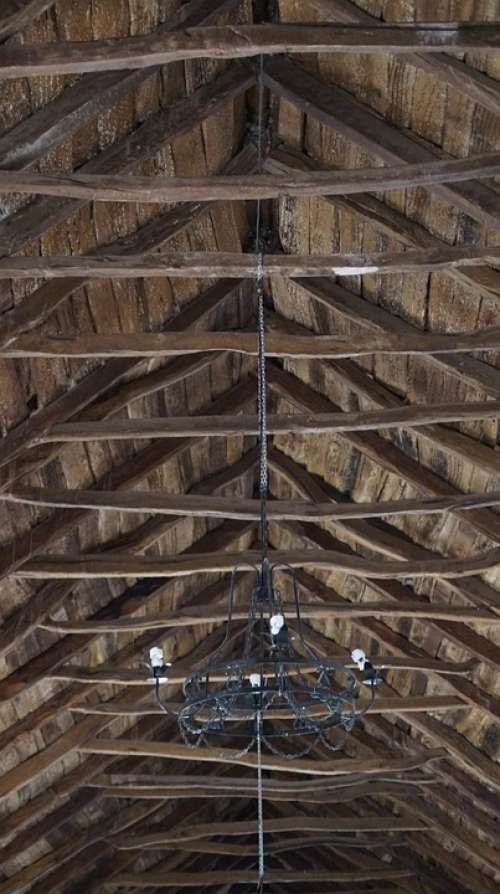 Church Old Inside Roof Wood