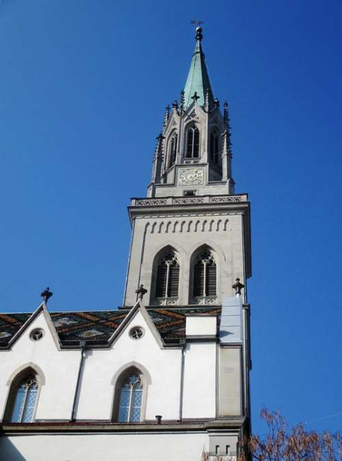 Church St Laurenzen Building Steeple Nave