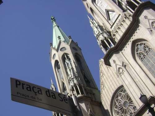 Church Cathedral City São Paulo