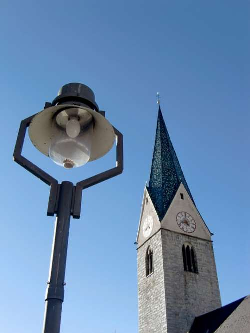 Church Gothic Bell Tower Sky Lamp Lantern
