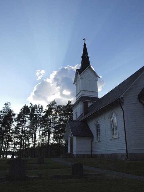 Church Backlighting Sweden