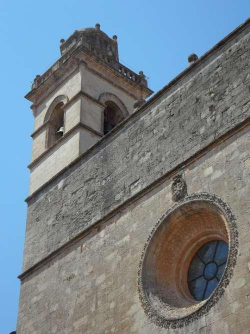 Church Steeple Petra Mallorca Trutzig Monumental