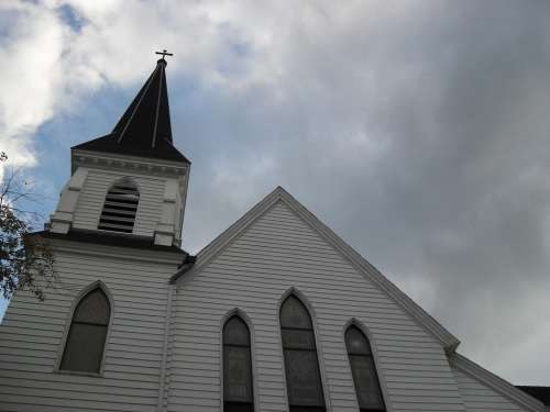 Church New England White Steeple Architecture God