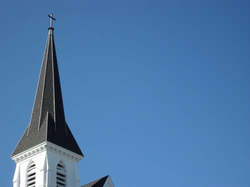 Church Steeple New England White Architecture God