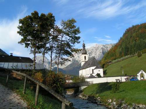 Church Ramsau Berchtesgadener Land