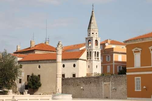 Church Croatia Building Old Town Stone