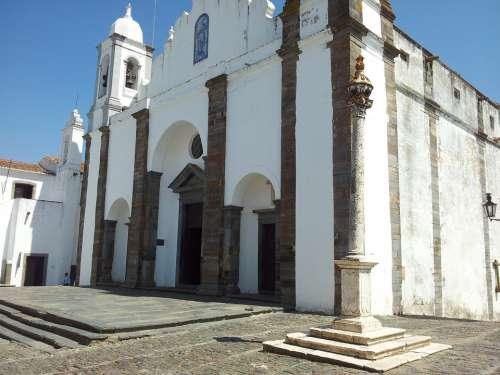 Church Architecture Antique Village Rustic Stone