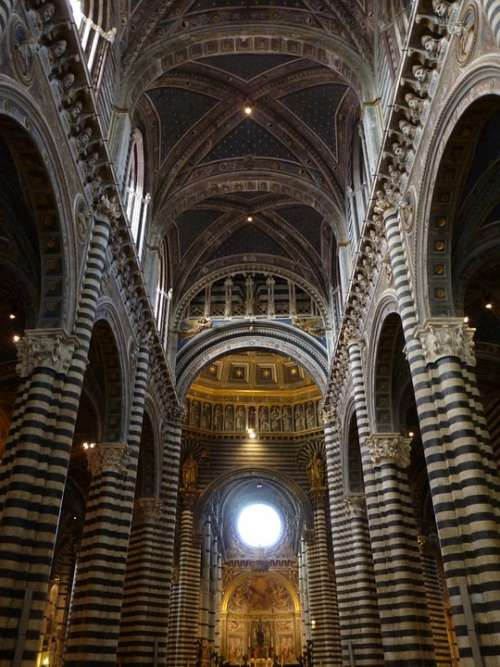 Church Interior Architecture Cathedral Duomo Old