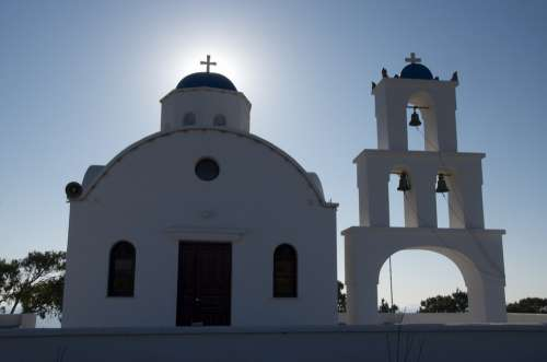 Church Greece Blue