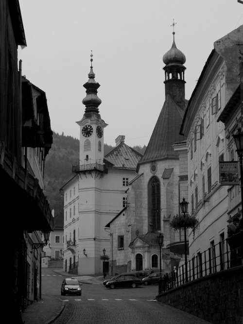 Church City Path Old Town Old Building Slovakia
