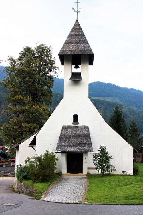 Church Religion Believe Evangelical Church Ramsau