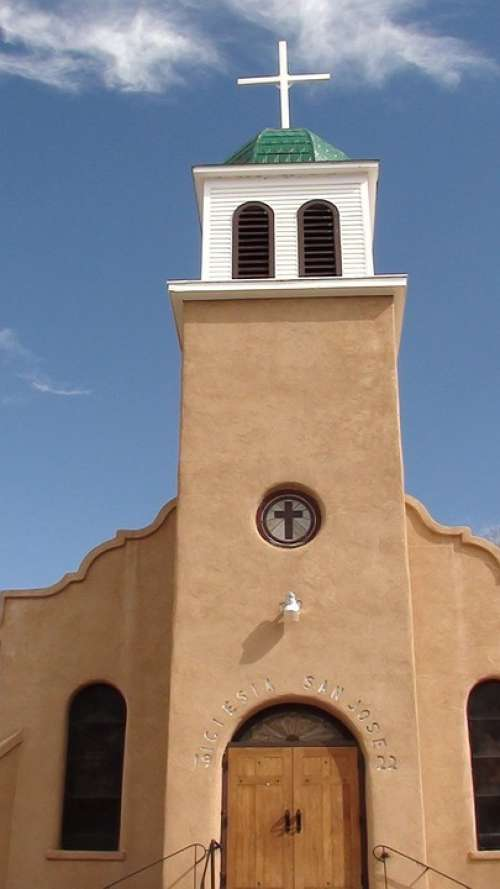 Church New Mexico Cerrillos Architecture Historic
