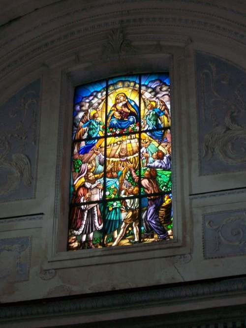 Church Stained Glass Window Sicily Catania