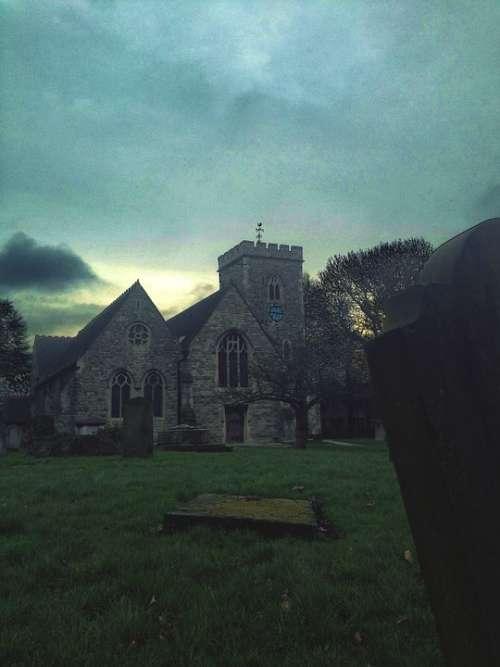 Church Graveyard Religion Cemetery Cross Grave