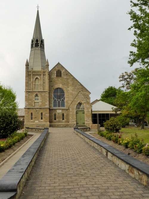 Church Hahndorf Landmark Spire Steeple Worship