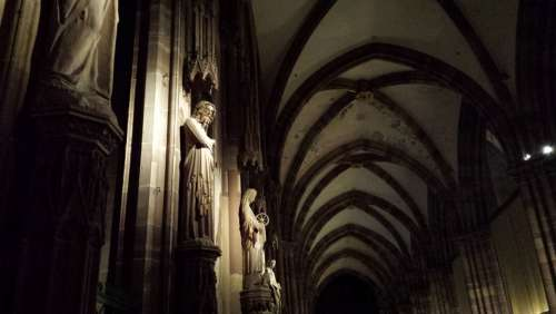 Church Nave Medieval Statue Architecture Religion
